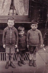 My granddad, with two of his younger brothers