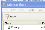 removing buttons from the address book