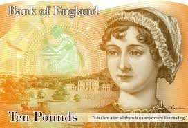 Jane Austen on a £10 note